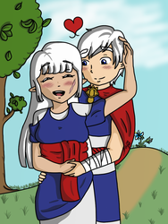 Adria and Orik by TheChosenHeroOfTime