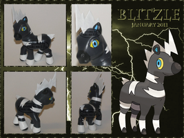 OOAK My Little Pony - Blitzle : Shimama - Pokemon by stormfaerie