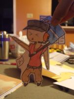 TF2-Paper Child RED Scout by StrawberryPockyFox