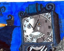 Hickory Dock Grandfather Clock by A-Lime-Went-Owlish