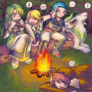 Mithos protect Martel by SymphoniaFanClub