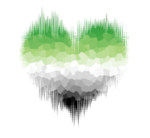 Aromantic Glitch Heart by Pride-Flags