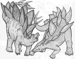 WWD and JP Stegosaurus by Vrahno