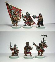 Vostroyan Command Squad by Belazikkal
