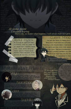Hachiman Hikigaya Layout MyanimeList by Hyack