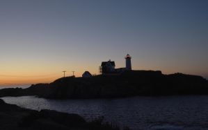At Sunrise, Nubble Light by Miss-Tbones