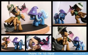 Commission: Daring Do VS Trixie by ChristaDoodles