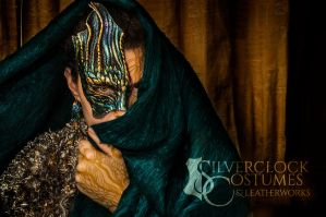 DRAGON half-MASK for sale by SilverclockCostumes