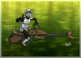 Scout Trooper. by stayte-of-the-art