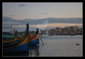 Marsaxlokk view by jamescut