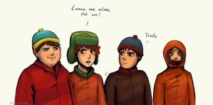 South Park kids by Ravialle