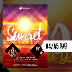 Sunset Party - Flyer Template by doghead
