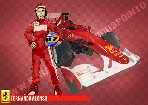 Commission: Ferrari. by Todd3point0