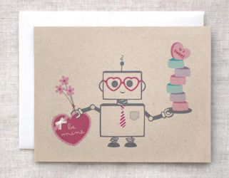 Valentine Robot Card by happydappybits