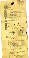Yellowed Long Letter by BrakeHeart