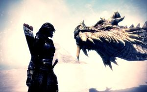 The Elder Scrolls V: Skyrim Dragon II by MuuseDesign