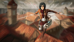 Attack on Titan - Mikasa in Trost by NymphTale