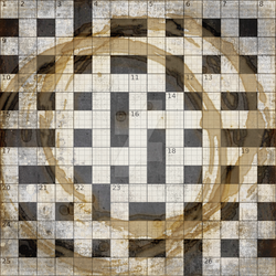Crossword Coaster by DaydreamersDesigns