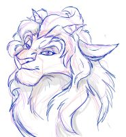 Sketch Goat Lion Bunny Thing by albinoraven666fanart