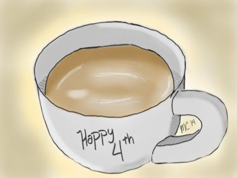 Happy Fourth Coffee Cup by chatitacr1
