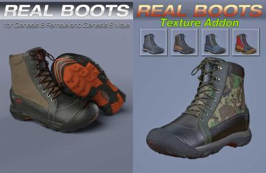 S3D Heavy Boots for Genesis-8 by Slide3D