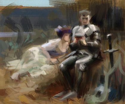 after Arthur Hacker 2 by blumss
