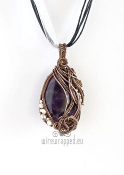 Amethyst and pearls pendant by ukapala