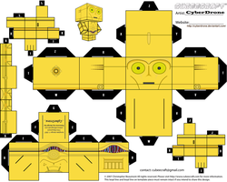 Cubee - C-3PO by CyberDrone