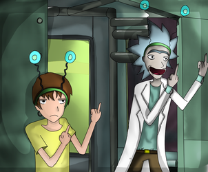 Rick And Morty by trainhurtnt