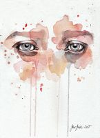 Missing you, watercolor by jane-beata