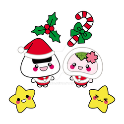 Commission: Xmas Onigiri by xraiko