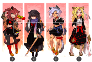 [CLOSED Set Price] Rebel Cats Girl ver. by CemarAdopts