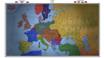 Map of Europe in 1914 Pre-World War I by Breakingerr