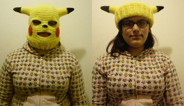 Pikachu Convertible Ski Mask By Sugarcoatidli3z On Deviantart