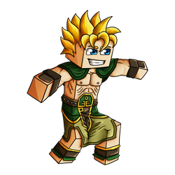 Minecraft Avatar - Earth Bender Solace by GoldSolace