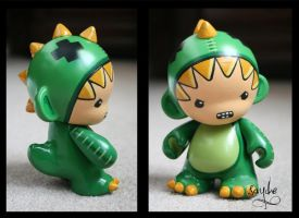 Dinosuit Munny by blue-daisy