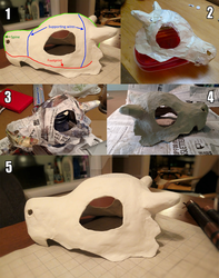 [TUTORIAL] Cubone skull helmet by RaptorAttacks