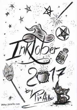 inktober 2017 (couverture)  by PixAiko
