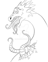 The tongue dragon - WIP by Nurrrsen