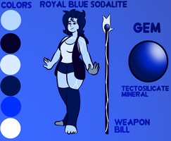 Sodalite ref sheet by CloudySoda