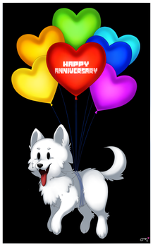 Undertale - Happy 2nd Anniversary by rainbowsweetcolors