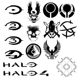 15 Hi-Def halo themed brushes by Nick004