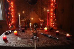 Samhain Altar 2016 by Blackmoonlight