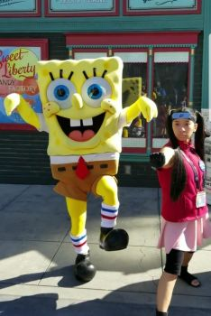 Spongebob and I did karate poses photo 2 by Magic-Kristina-KW