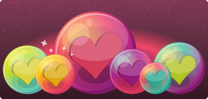 Heart Bubble Icons by ciara-cable