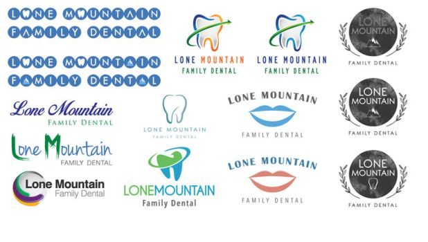 Lone Mountain Family Dental Logo Ideas 3 by INF3CT3D-D3M0N