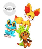 -Pokemon XY starters-