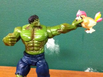 Hulk Smash Puny Bird by Elecman99