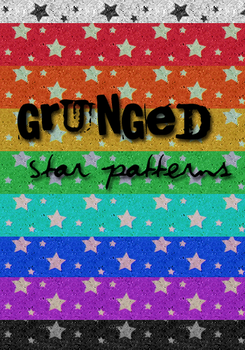 Patterns 1- Grunged Stars by LacedxRoses