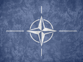 NATO ~ Grunge Flag (1953 - ) by undevicesimus